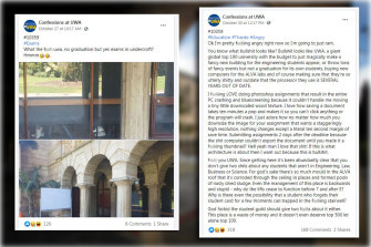 The University of WA has outraged students by not permitting a 2020 graduation ceremony, while allowing other large gatherings to be held.
