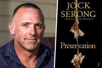 Author Jock Serong and his book Preservation.