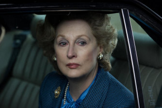 Meryl Streep as Margaret Thatcher in the movie The Iron Lady, for which she won an Academy Award.