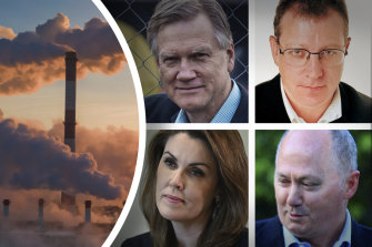 Will not be muzzled: Sky News presenters Andrew Bolt, Tim Blair, Peta Credlin and Chris Kenny.