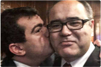 Sam Dastyari (L) and Adem Somyurek