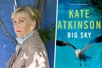 Author Kate Atkinson and her novel Big Sky.
