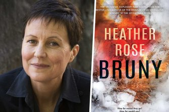 Author Heather Rose and her novel Bruny.