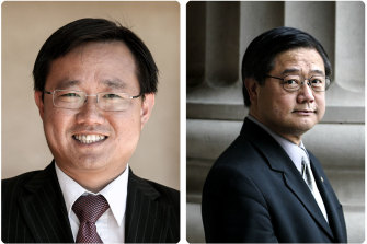 Meng Heang Tak (L) and Former MP Hong Lim