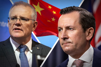 Prime Minister Scott Morrison and WA Premier Mark McGowan are not seeing eye to eye when it comes to the Australia-China relationship.