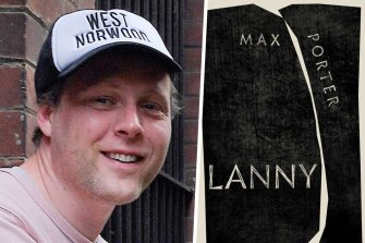 Author Max Porter and his book Lanny.