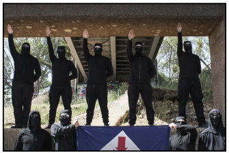 Neo-Nazis from the National Socialist Network from their encrypted online sites.