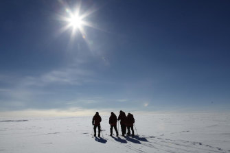 Natural variability and climate change are producing an abrupt shift in temperature trends at the South Pole.