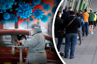 Melbourne residents rush to get vaccinated and tested as lockdown is  extended.