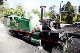 Tourist attraction the Puffing Billy engine.