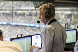 Bruce McAvaney doing what he does best.