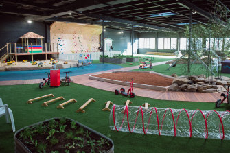 Paisley Park Early Learning Centre Randwick features an indoor rock-climbing wall.