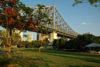 The planned section, which would take cyclists from Captain Burke Park to East Brisbane, is a key link to the council's proposed Kangaroo Point green bridge.