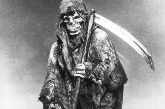 Stay safe: the Grim Reaper in the 1987 ad.