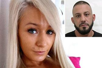 Ellie Price and (inset) murder accused Ricardo Barbaro.