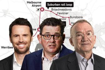 Tom Considine, Daniel Andrews, James MacKenzie - the men at the centre of the state's Suburban Rail Loop.