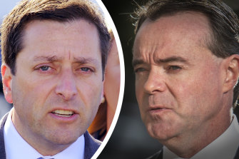 Matthew Guy and Michael O'Brien  spent Sunday night on the phones persuading MPs to vote for them.