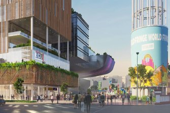 The new ECU campus will be located west of Yagan Square.