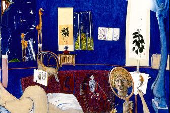 Self-portrait in the Studio, 1976 from Brett Whiteley Catalogue Raisonne 1955-1992.