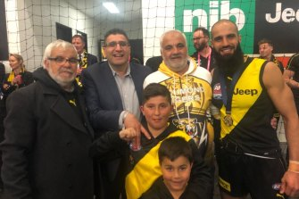 Richmond defender Bachar Houli (right) and his brother Dr Nezor Houli (second from left).