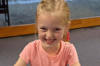 Jordan Marden was stranded at her school due to floodwaters on her 7th birthday.