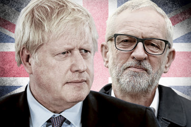 Boris Johnson and Jeremy Corbyn go head-to-head in the UK General Election.
