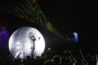 The Flaming Lips have built a reputation for wild performances with all manner of props.