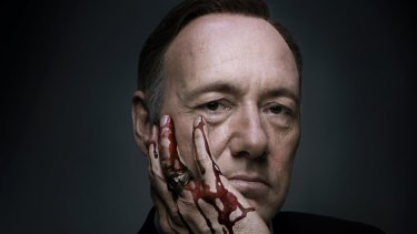 Kevin Spacey as President Frank Underwood in Netflix series House of Cards.