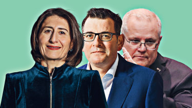Gladys Berejiklian, Dan Andrews and Scott Morrison.