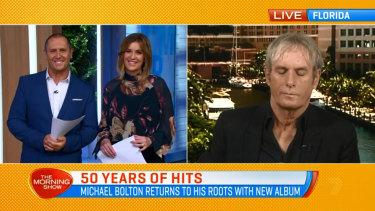 "Michael Bolton says he wasn't asleep, just ""tweeting""."