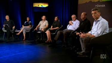 Monday's Q&A panel included Kristy McBain, Andrew Constance, Victor Steffensen, Cheryl McCarthy, Michael Mann and Jim Molan.