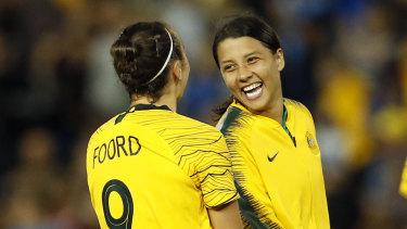New era: Matildas star Sam Kerr has been named captain of the Australian side.