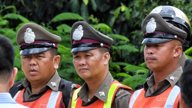 Men only: The Thai police academy will stop admitting women.