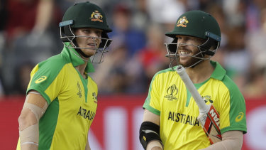 Job at hand: Steve Smith, left, and David Warner.