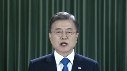 Moon proposes regional initiative to tackle health, peace