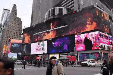 RFS uses giant billboard in New York's Times Square to thank firefighters