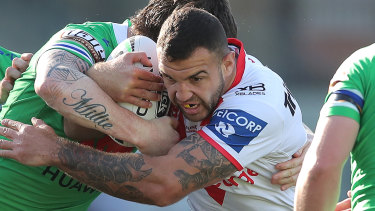 The Dragons' Josh Kerr has emerged as a bolter in Wayne Bennett's Queensland squad.