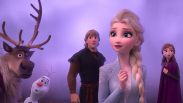 Elsa, Anna, Kristoff, Olaf and Sven journey far beyond the gates of Arendelle in search of answers in Frozen 2.
