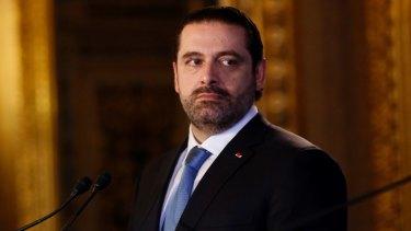 Lebanese Prime Minister Saad al-Hariri.