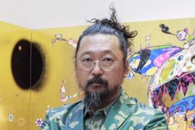 Takashi Murakami in his studio