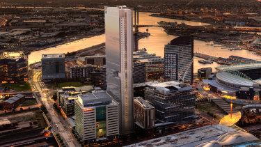 Cromwell's proposal for a 54-storey tower at 700 Collins Street, Melbourne.