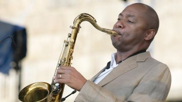 Branford Marsalis was one of the musicians Griffin saw at the  Thelonious Monk International Jazz Saxophone Competition.