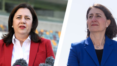 NSW has warned it may never reach the threshold set by Queensland to reopen its borders, with Premier Gladys Berejiklian saying 28 days of no community transmission is not feasible.