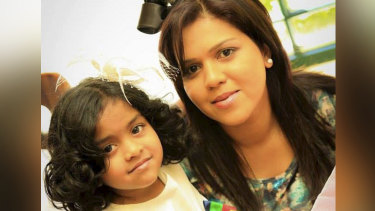 Manik Suriaaratchi and her 10-year-old daughter Alexendria were killed in the blast at the church in Negombo, Sri Lanka.