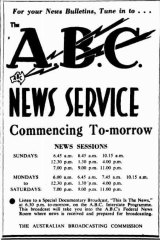 Ad for ABC news service, May 31, 1947