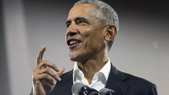 On schools, roads and airports, Barack Obama's name keeps popping up
