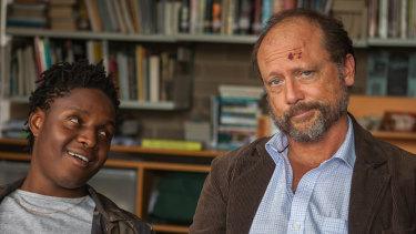 Thuso Lekwape and Alan Dukes in Book Week.