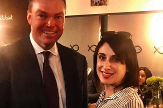 Restaurant owner Michelle Loielo with Liberal MP Edward O'Donohue.