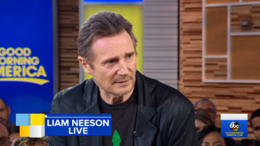 Liam Neeson has addressed his controversial interview on Good Morning America.