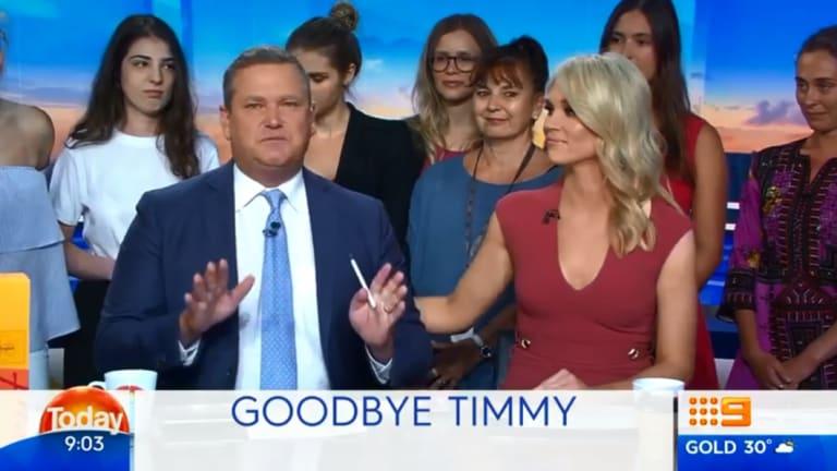 Tim Gilbert farewells Today viewers.